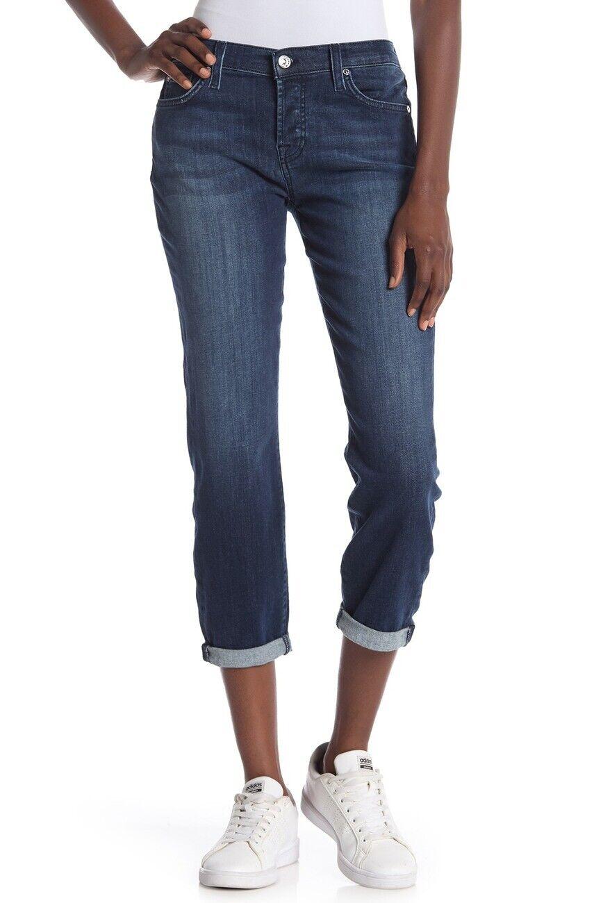 7 For All Mankind Josefina Squiggle Skinny Boyfriend Jeans, Size 25
