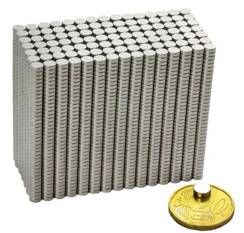 100 x Neodym Super Magnete Minimagnete Pinnwand Büro 6 x 2