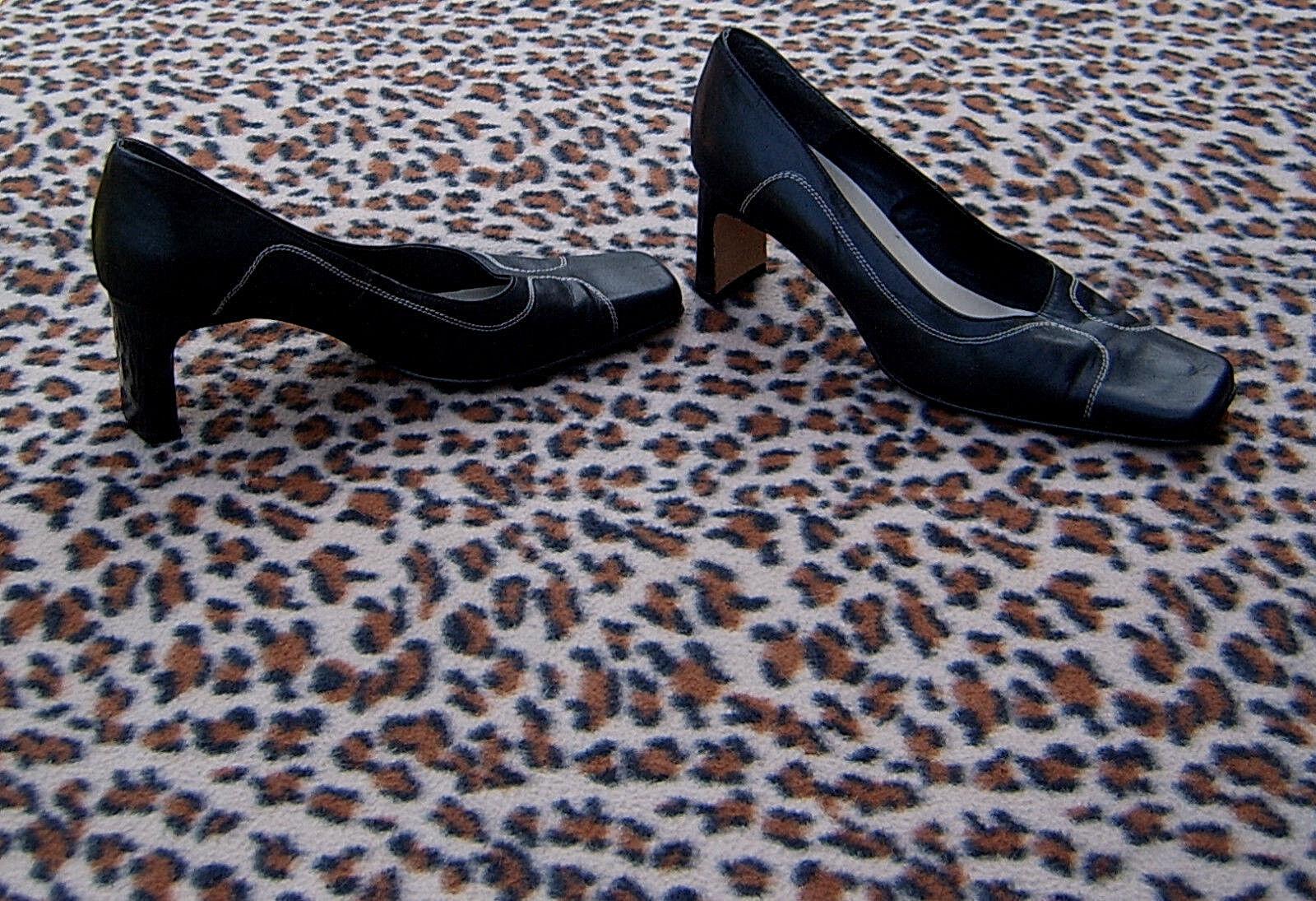 cheap for discount 4e2c7 2b60d TONY black leather shoes size 7 5, EU 38 UK BIANCO ...