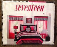 Seventeen Gigi Black Zebra Stripe Bright Pink Trim Valance Curtain (have 2)