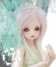 14cm Sweet Light Silver-Gray BJD Wig For 1/8 LUTS PULLIP SD BJD Long Doll Hair