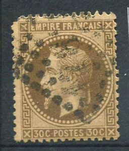 France-1867-Yv-30-Oblitere-40-Napoleon-III-30-c