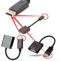DisplayPort DP Male to VGA DVI HDMI Female Converter Adapter Cable For PC DVD