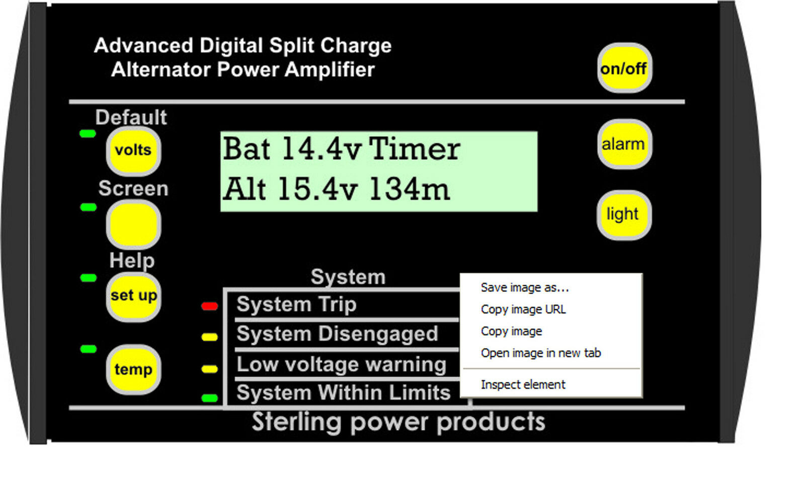 Sterling Alternador a Cochegador de  Batería Control Remoto con 2 Derivadores Abrc  calidad fantástica