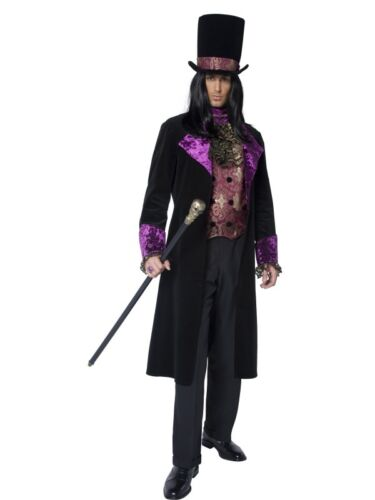MENS COUNT DRACULA FANCY DRESS COSTUME SCARY GOTHIC VAMPIRE HALLOWEEN OUTFIT HAT