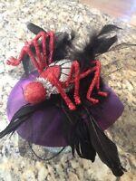 79-79200 Halloween Purple Red Spider Hat Head Piece Costume Decoration Spooky
