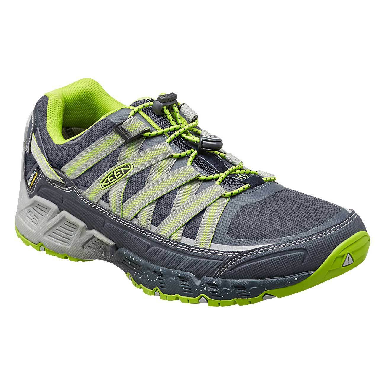 $140 KEEN VERSATRAIL WP MENS WATERPROOF HIKING TRAIL SHOE LOW BOOT GREEN GRAY