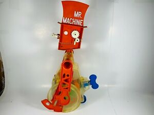 Vintage-Toy-Antique-Ideal-Mr-Machine-Robot-Rolling-Wind-up-RARE-As-Is