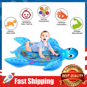 Tummy Time Sea Turtle Shape Water Play Mat Fun Activity Toy for Baby & Toddler