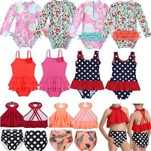 Baby-Girls-Swimsuit-Swimwear-Rash-Guard-Beachwear-Sun-Protection-Bathing-Suit