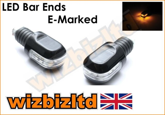 Motorcycle Bar Ends with Integral LED Signal Flasher (Fits 7/8 and 1') BEWLED20