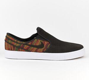a845f9d4424d Nike Zoom Stefan Janoski Slip PRM Premium Men Skate Shoes New Brown ...
