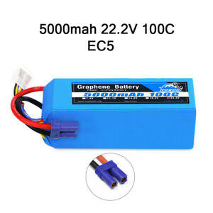 2pcs HRB 22.2V 6S 5000mAh LiPo Battery 50C 100C for RC Helicopter Airplane Drone