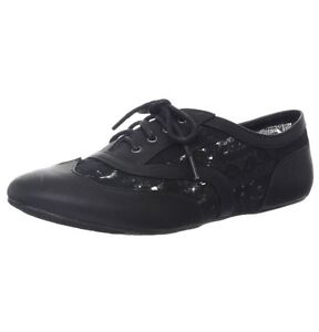 Black Lace Lawrence Oxford Flats Super