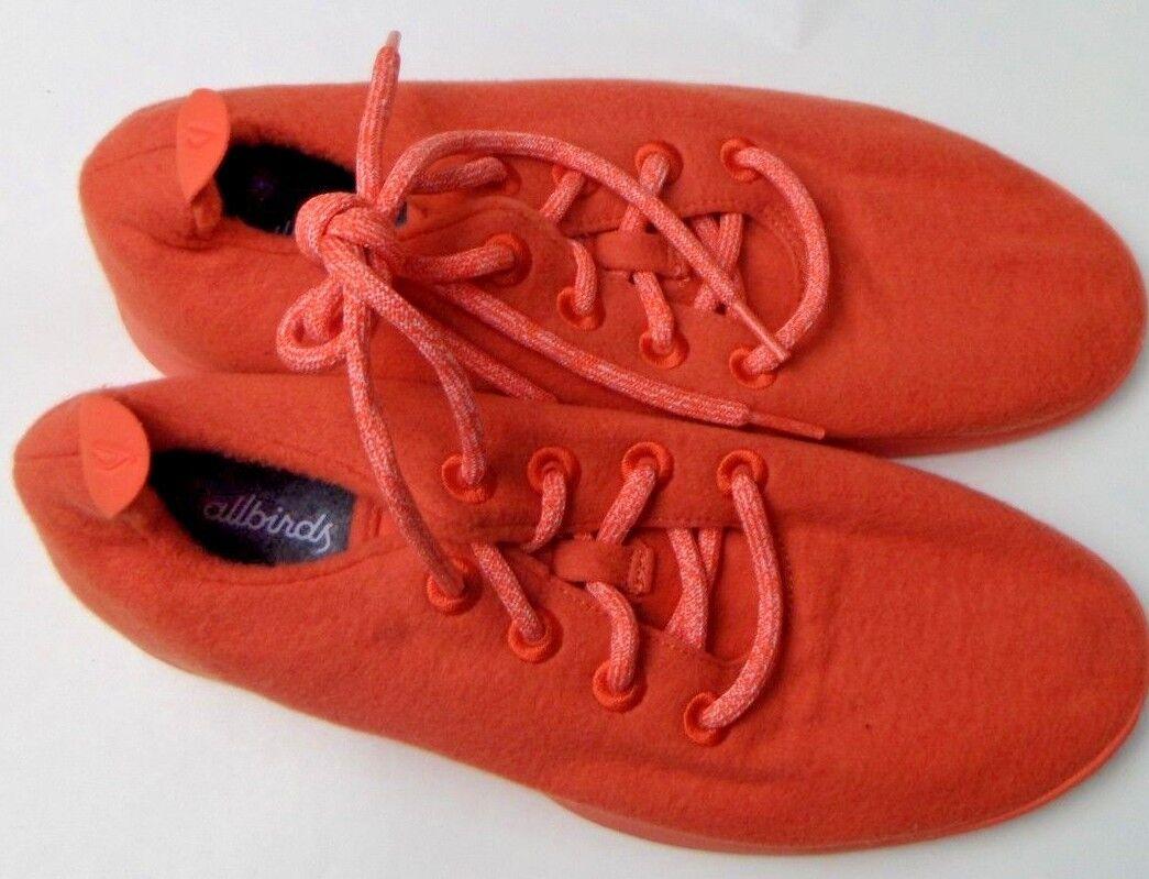 AllBirds Mens Wool Runners orange W  orange Sole, Size 8