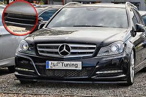 Spoilerschwert-Frontspoiler-ABS-Mercedes-Benz-C-Klasse-W204-ABE-schwarz-glaenzend