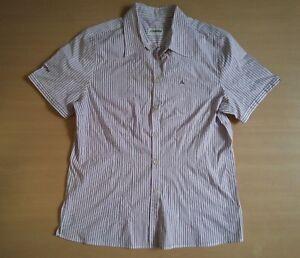 Damen-Bluse-Sommer-Schoeffel-Gr-L-Gr-40-weinrot-weiss-gestreift-Baumwolle-Top