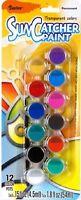 Sun Catcher Paint Pots Transparent Glass Ceramics 12 Colors1 Brush