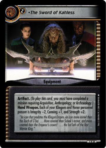 Star Trek CCG 2E Necessary Evil The Sword of Kahless 4R34