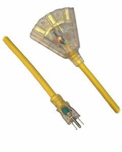 100 Ft X 14 Gauge Indoor Outdoor Extension Cord