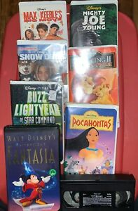 Lot-of-8-Walt-Disney-VHS-Movies-Fantasia-Pocahontas-Buzz-Lightyear-Toy-Story-2