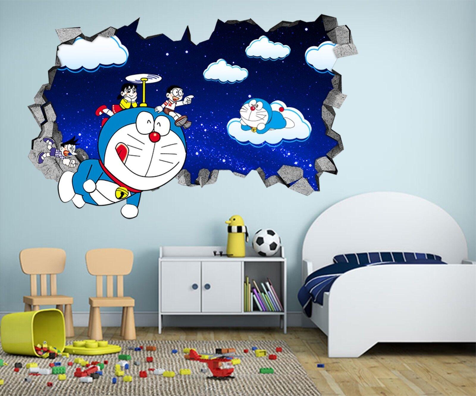 3D Roboter Katze 33 Mauer Murals Mauer Aufklebe Decal Durchbruch AJ WALLPAPER DE