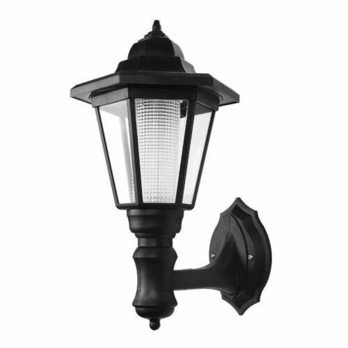 LemonBest® Solar Powered Outdoor LED Wall Lantern Black