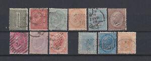 ITALY-1863-King-V-Emmanuel-II-Set-Used-Sc-24-33-Sa-14-22