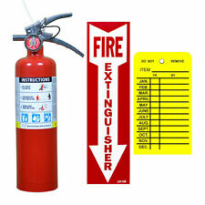 25 Lb Buckeye Abc Fire Extinguisher Withveh Bracket Sign Inspection Tag