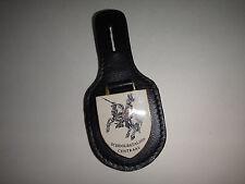 Dutch Military SCHOOLBATALJON CENTRAAL Metal Badge On Leather Pocket Hanger