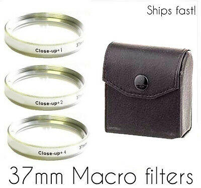 37mm  +1 +2 +4  Close-Up lenses Macro Filter Lens   Free Fast! USA Shipping