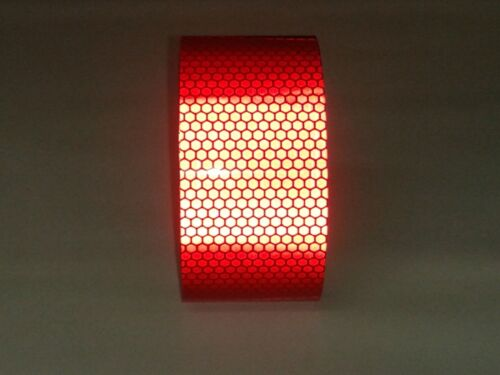 16ft// RED REFLECTIVE Tape//Sheet//Film//Intensity High Grade//Vinyl//Adhesive//HIP