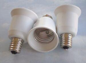 3 white adapters to use e26 e27 cfl or led bulbs in a e17. Black Bedroom Furniture Sets. Home Design Ideas