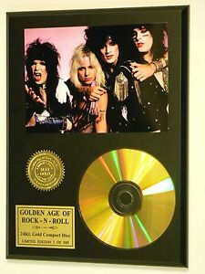 Motley-Crue-24k-Gold-CD-Display-Rare-Limited-Edition-USA-Ships-Free