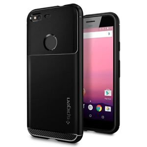 online store 0ccac 89804 Details about Google Pixel / Pixel XL Case, Genuine SPIGEN Rugged Armor  Ultra Soft Cover