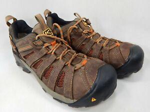 Keen-Flint-Low-Size-11-5-2E-WIDE-EU-45-Men-039-s-Steel-Toe-Work-Shoes-Brown-1007970