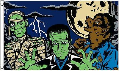 Happy Halloween Zombie 5/'x3/' Flag !