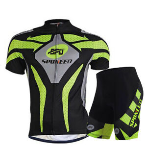 2df8377e5 Mens Cycling Jersey Set Road Biking Short Clothes with 4D Padded Gel ...