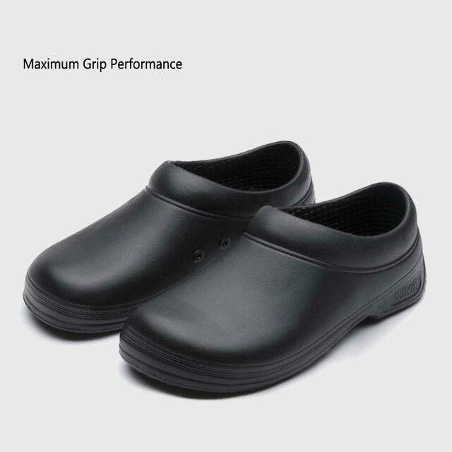 Men/'s Restaurant Oil Resistant Kitchen Work Shoes Loafer Slip-On Skid Non-Slip
