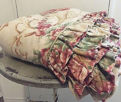 PRETTY Ralph Lauren Grosvenor Ruffled Duvet Cover ~ French Country ~ Scroll ~