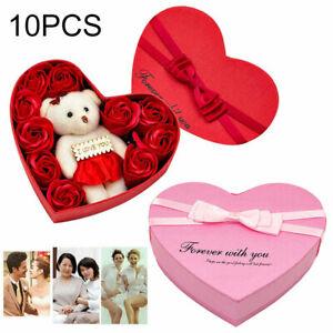 10pcs Artificiale Bouquet Soap Rose Fiore BEAR COMPLEANNO festa della mamma regalo di nozze