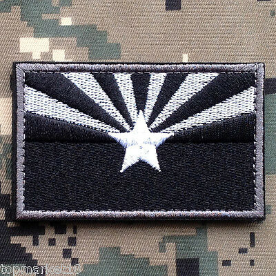 ARIZONA STATE FLAG US ARMY USA MILITARY TACTICAL MORALE DARK SWAT OPS HOOK PATCH
