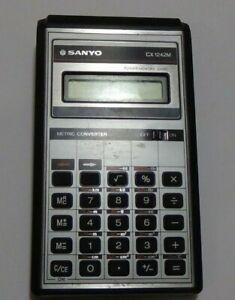 Vintage-SANYO-Metric-Imperial-Converter-Calculator-CX-1242M