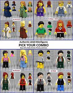 LEGO 1 RANDOM NEW MINIFIGURE TOWN CITY SERIES BOY GIRL PEOPLE