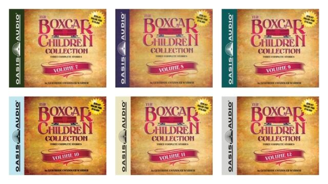 NEW The Boxcar Children Collection Set of 6 Audio Book Volume 7 8 9 10 11 12 CD