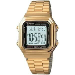Casio-Uhr-A178WGA-1A-Retro-Digitaluhr-Armbanduhr-Herren-Damen-Gold-NEU-amp-OVP