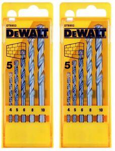 2-X-DeWalt-DIY-Plus-Masonry-Drill-Bit-Set-X-5-In-Case