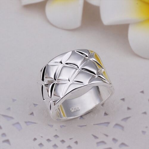 New Lady Girl 925 Sterling Silver Filled Solid Ring Fashion Jewellery Gift Rings