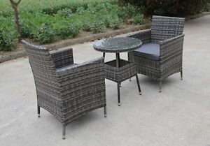 Sillas Mimbre Comedor | Rattan 2 Two Seater Chairs Dining Wicker Bistro Outdoor Garden