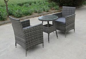 Bistro Patio Furniture.Details About Rattan 2 Two Seater Chairs Dining Wicker Bistro Outdoor Garden Furniture Set